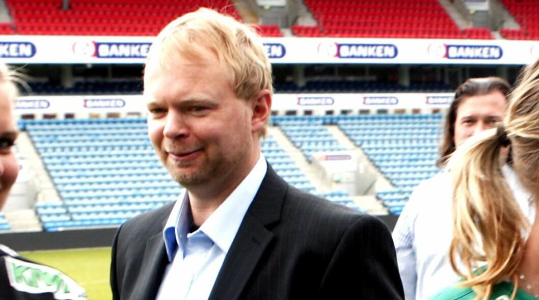 Sportsredaktør Vegard Jansen Hagen i TV 2. Bildet er fra en lansering for noen år tilbake.