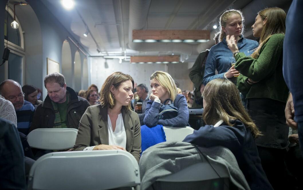 Kort tid etter at MeToo «tok av» i Norge, var det debatt om mediebransjen og seksuell trakassering i Oslo sentrum.