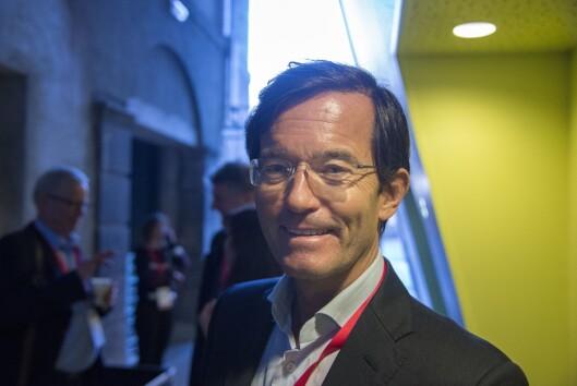 Medieinvestor Trond Riiber Knudsen i TRK Group under NxtMedia-konferansen.