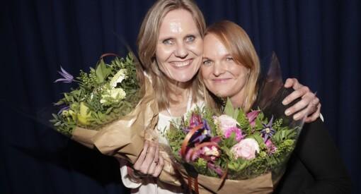 Akersgata 55 tok begge prisene: Helje Solberg er «Årets kvinnelige medieleder», mens Jorun Berntsen kåres til «Årets talent»