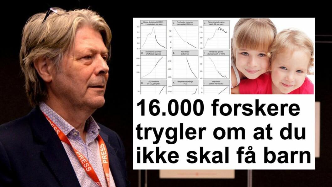 Nyhetsredaktør Erik Stephansen i Nettavisen. Innfelt: Artikkelen som Faktisk mener er helt feil, og som forskere mener er «uansvarlig».