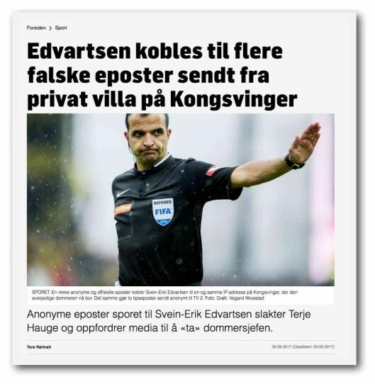 Den nå felte TV 2-reportasjen om Svein-Erik Edvartsen og NFF.