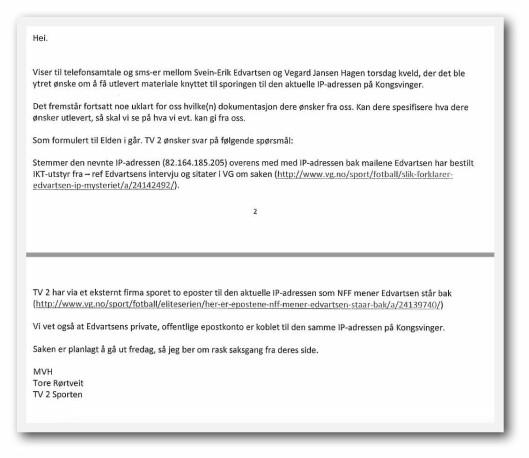 En av TV 2s e-poster til advokat Elden i forkant av publiseringen.