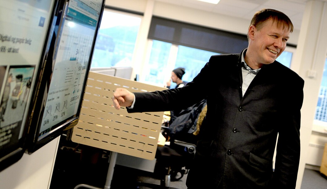Sjefredaktør og direktør Stig Jakobsen fryktet det verste, men det har gått meget bedre for iTromsø siden han overtok i 2015.