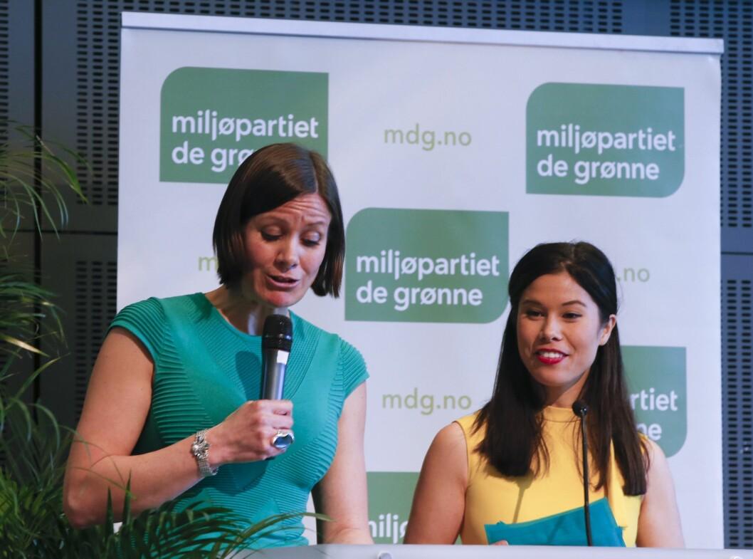 MDG-byrådene Hanna Marcussen og Lan Nguyen Berg.