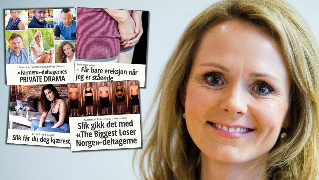 Kulturminister Linda Hofstad Helleland og regjeringen mener disse artiklene fortjener nullmoms. Mens fagmedier og grundig dybdejournalistikk ikke skal få det.