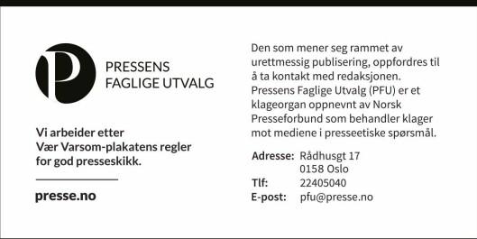 Alle kan si at de følger Vær varsom-plakaten, men bare de som er tilknyttet eller medlem i Norsk Presseforbund kan bruke denne «presselappen».