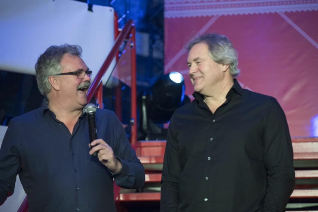 TV 2s kommentatorpar Harald Bredeli og Bent Svele. Foto: Vidar Ruud / NTB scanpix