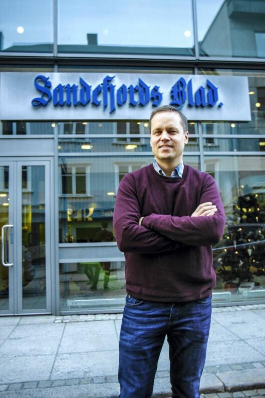 Steinar Ulrichsen, sjefredaktør i Sandefjords Blad.