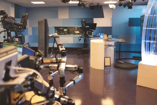 TV-studio hos Østlandssendingen.