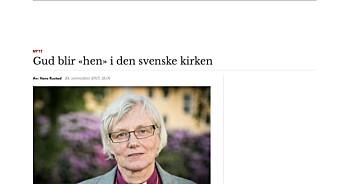 Nei, Document.no: Gud omtales ikke som «hen» i ny svensk kirkehåndbok, viser faktasjekk fra Faktisk