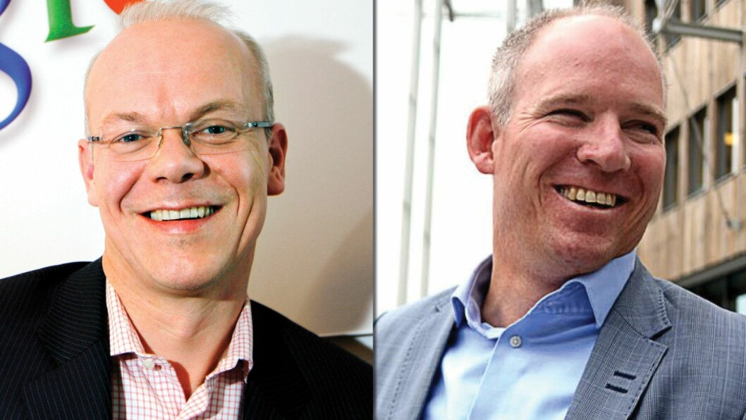 Jan Grønbech (t.v.) er norgessjef for Google, mens Rune Paulseth har samme jobb i Facebook.