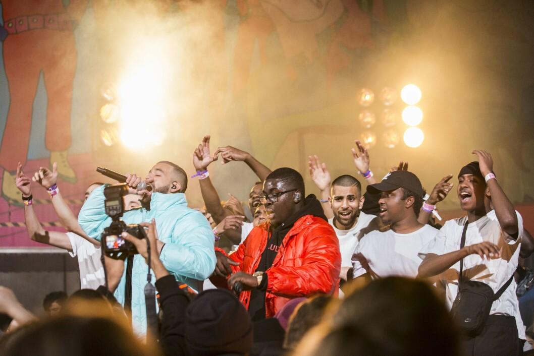 Bildet er fra P3-Gull 2017: Hkeem og Temur opptrer med låten