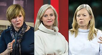 Trine Eilertsen inviterer Christine Meyer og Karianne Solbrække til «obligatorisk refleksjon» under redaktørforeningens julefest mandag kveld