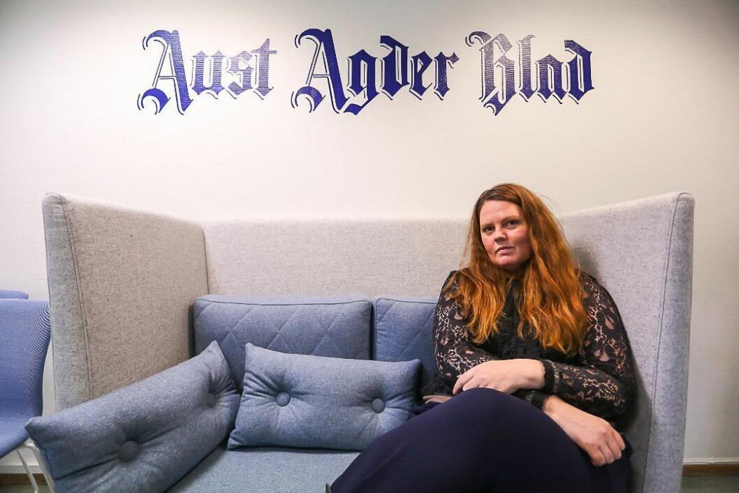 Linda Joachime Helgesen Aslaksen gir seg som redaktør og eneleder i Aust-Agder Blad.