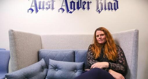 Linda Joachime Helgesen Aslaksen (36) gir seg som redaktør i Aust-Agder Blad etter litt over tre år