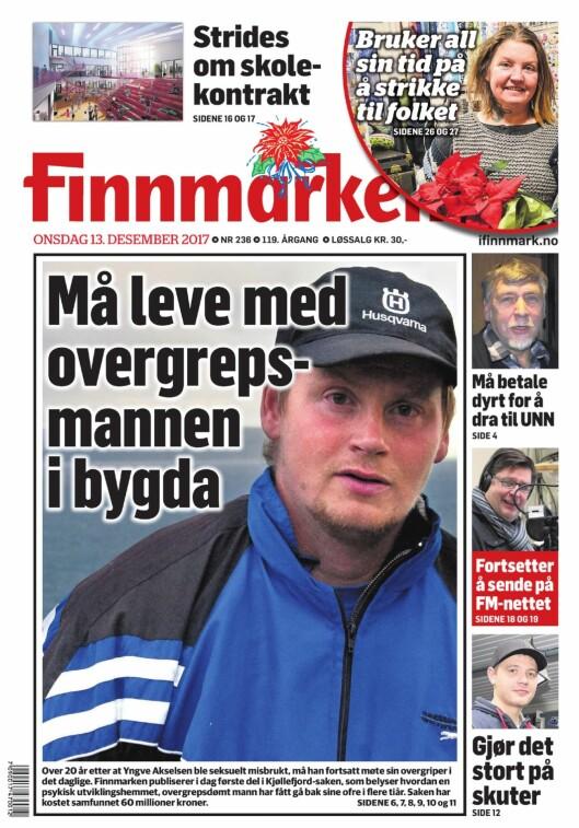 Finnmarkens forside torsdag.