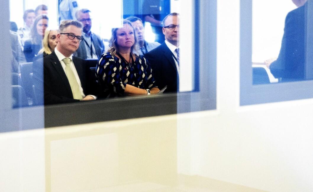 Justis- og beredskapsminister Per-Willy Amundsen (Frp), her under åpning av et nytt bygg på Ullersmo fengsel våren 2017.