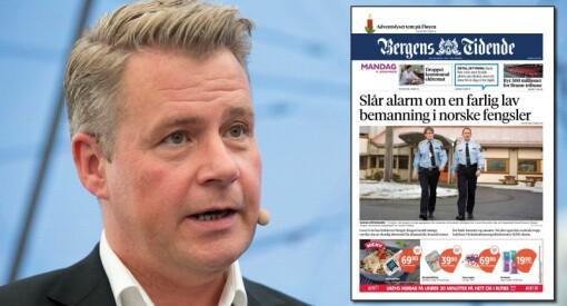 Bergens Tidende angrep justisministeren på lederplass. Da Amundsen skulle svare, redigerte avisen bort noe av kritikken