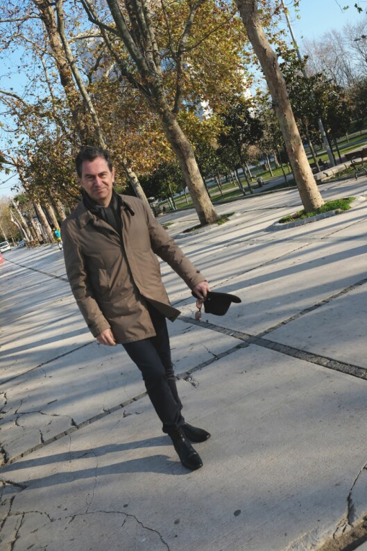 Kadri Gursel en desembermorgen i Gezi Park, Istanbul.