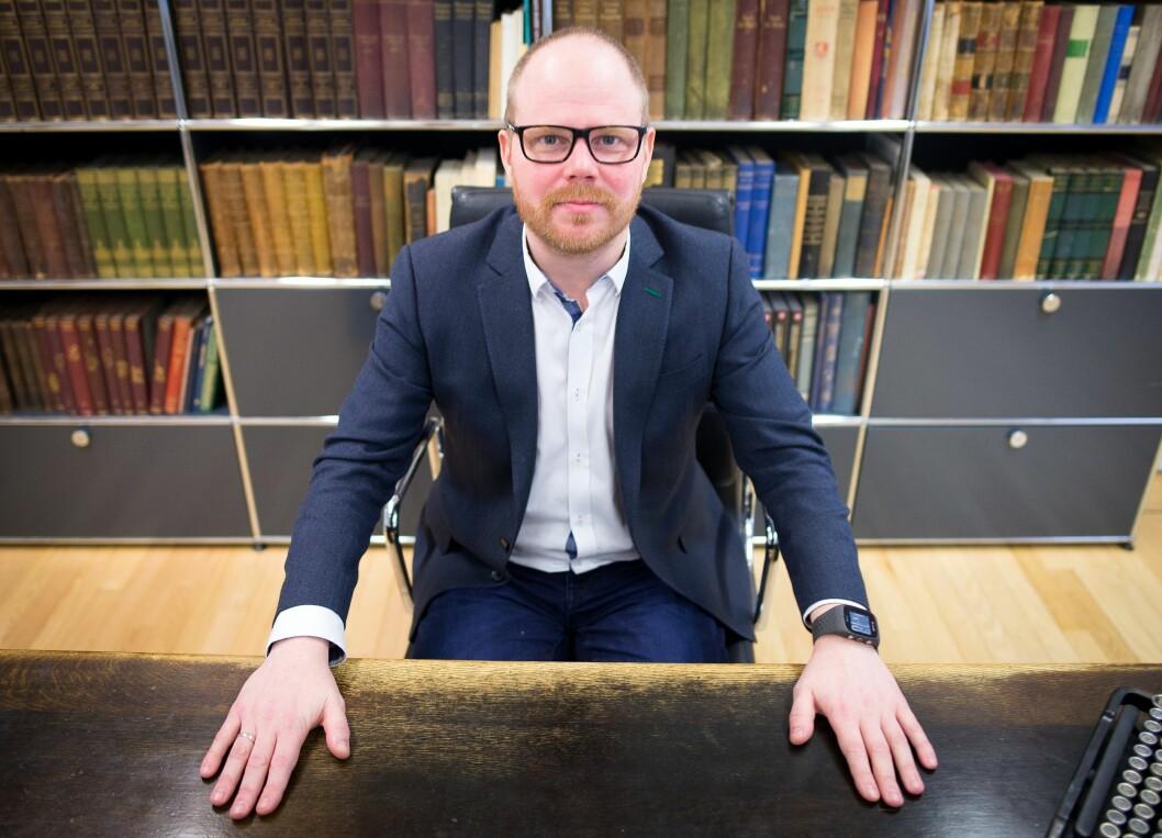 Gard Steiro, ansvarlig redaktør og administrerende direktør i VG. Bildet er tatt ved en tidligere anledning.