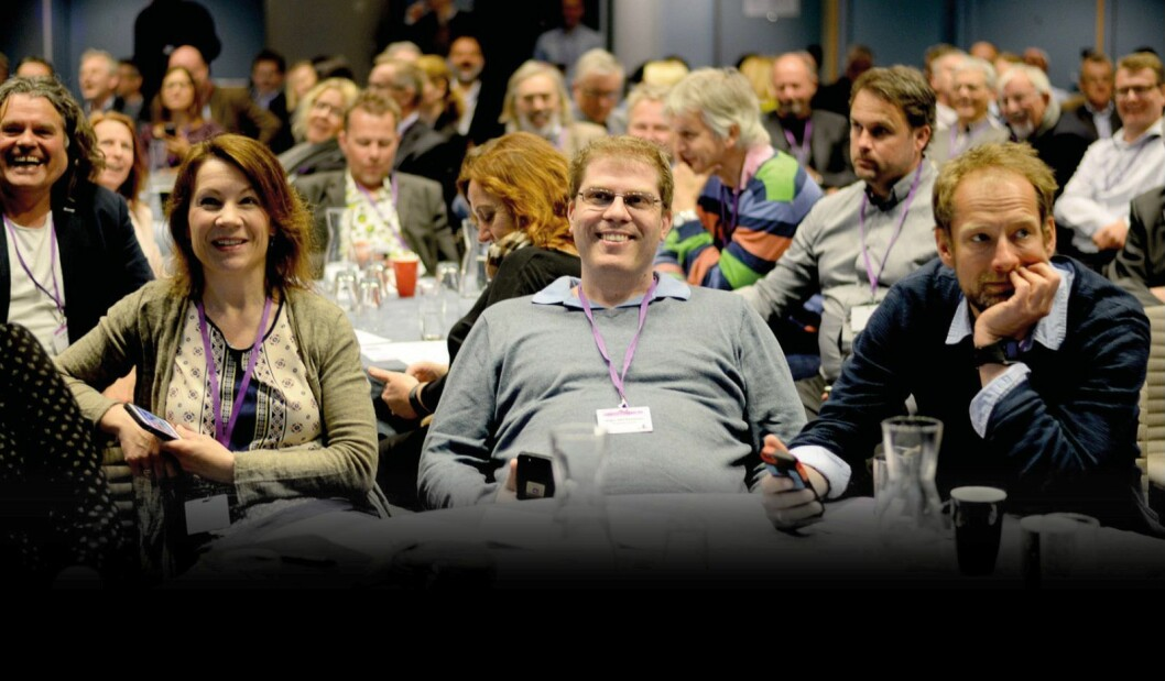 Hva vil prege norske redaktørers arbeid det neste året? Her fra redaktørforeningens vårmøte 2015 i Bergen.