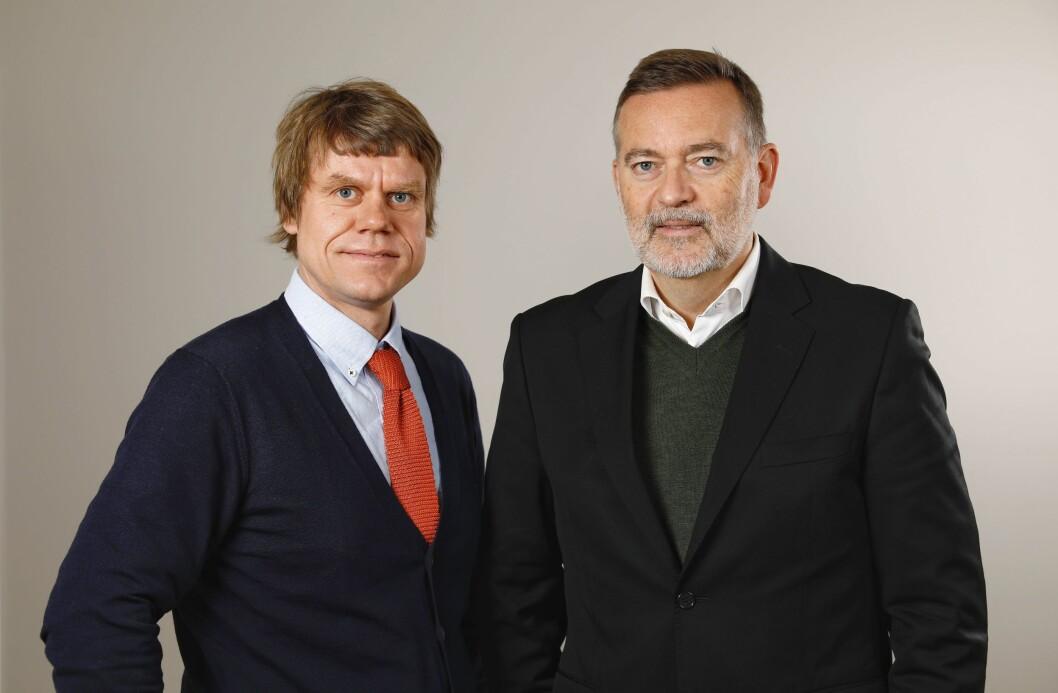 Jan-Erik Larsen (t.h.) henter Åsmund Prytz til det stadig voksende PR-byrået.