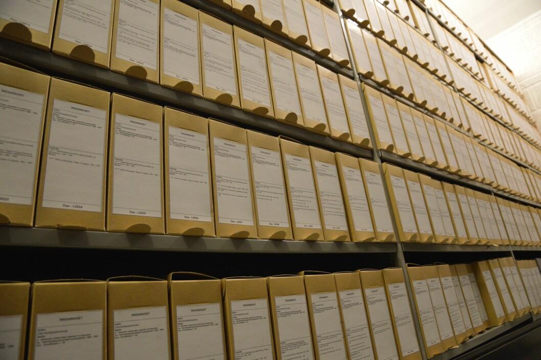 420 hyllemeter arkiver ble avlevert fra UD til Riksarkivet i november. Det tilsvarer 70 arkivbur.