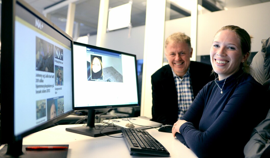NYTT PRODUKT: Sjefredaktør Gunnar Stavrum og utgavesjef Maria Schiller Tønnessen.
