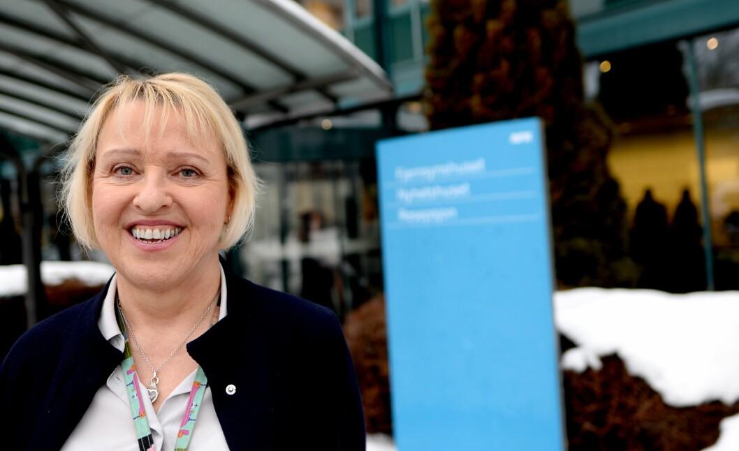 Distriktsdirektør Grethe Gynnild-Johnsen i NRK.