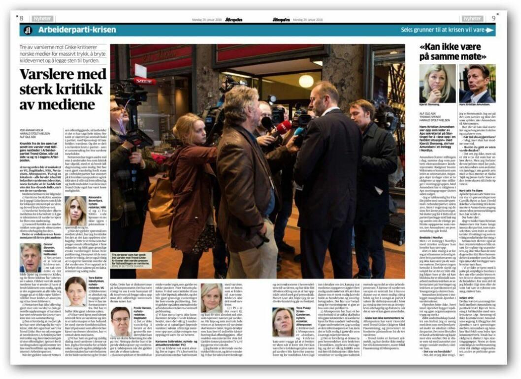 Fra Aftenposten mandag.