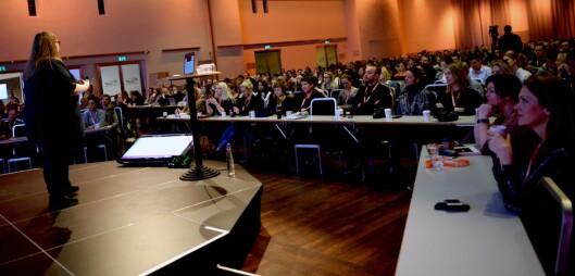 Valen-Utvik snakket for 700 deltakere på Social Media Days i Oslo tirsdag.