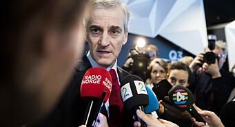 I dag møter Jonas Gahr Støre pressen til debatt om medienes dekning av varslinger og seksuell trakassering