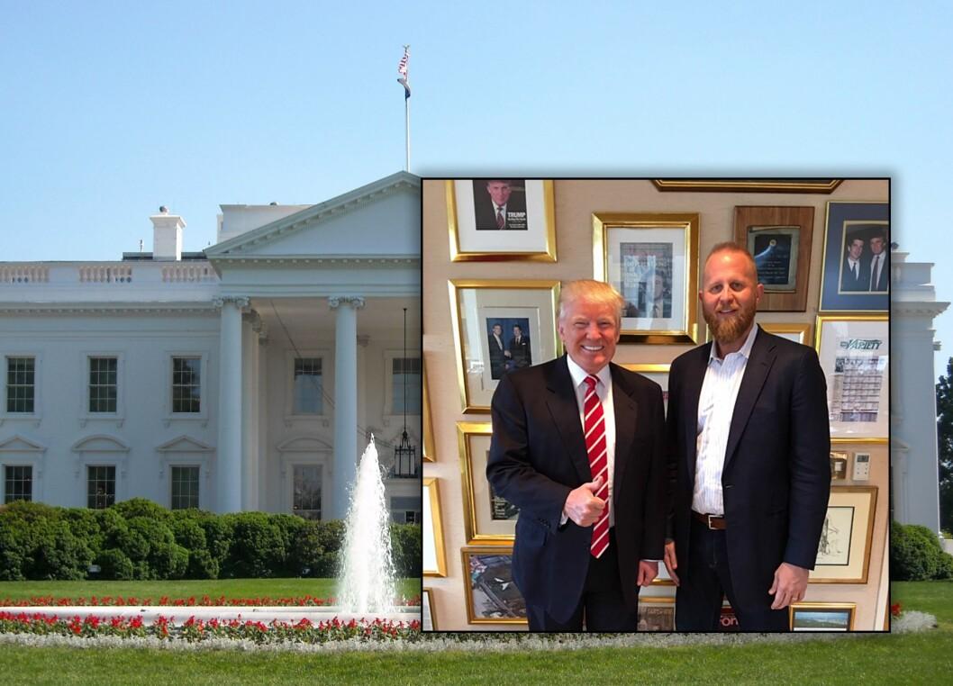 President Donald Trump i USA med sin digitale rådgiver Brad Parscale.