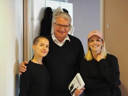 Psykolog Carina Poulsen, gjest Fabian Stang og programleder Christine Dancke.