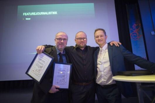 Hitra-Frøya sin redaksjon vant prisen for beste lokalavisjournalistikk.