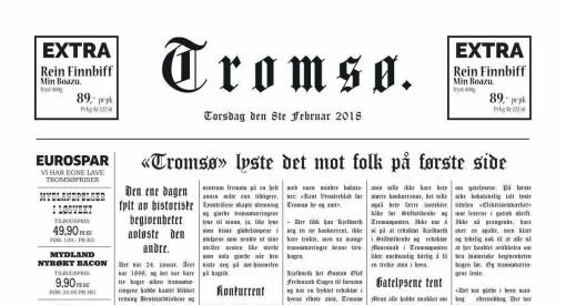 Gratulerer med 120-årsdagen, iTromsø! Sjekk dagens forside med stil og historisk sus over seg