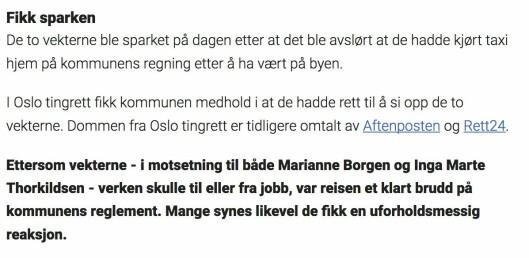 Fra Dagbladets omtale.