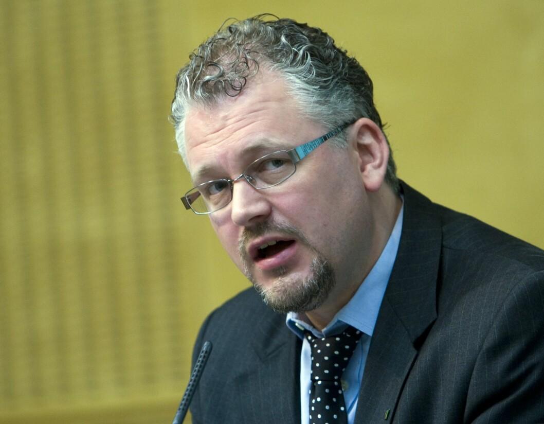 Roger Schjerva, sjeføkonom i IKT-Norge. Bildet er fra 2008, da han var statssekretær i Finansdepartementet.