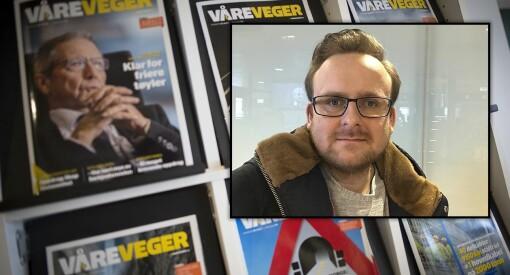 Martin Gramnæs (30) ansatt som journalist i fagbladet Våre Veger