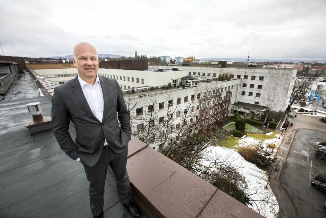Kringkastingssjef Thor Gjermund Eriksen i NRK på Marienlyst i Oslo.