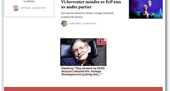Google Ads slipper til annonser fra falsk Stephen Hawking-side - målrettet mot nordmenn på flere norske nettsteder