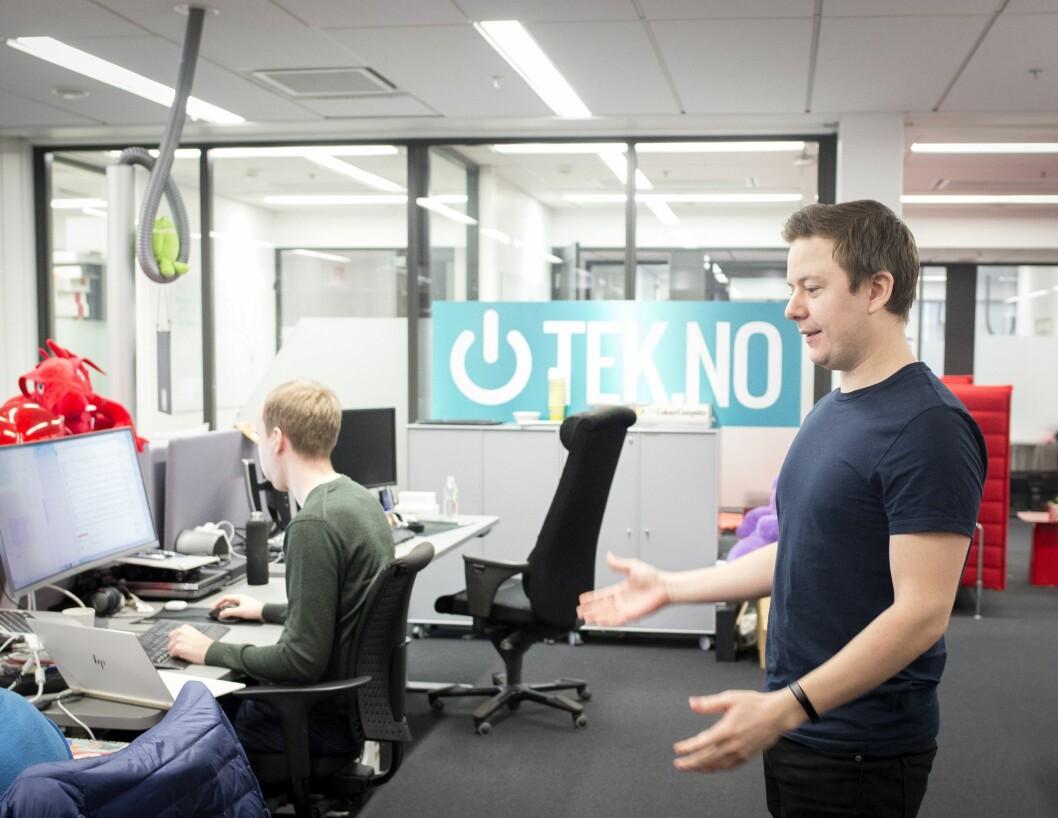 Nyhetssjef Niklas Plikk i Tek.no. Arkivfoto