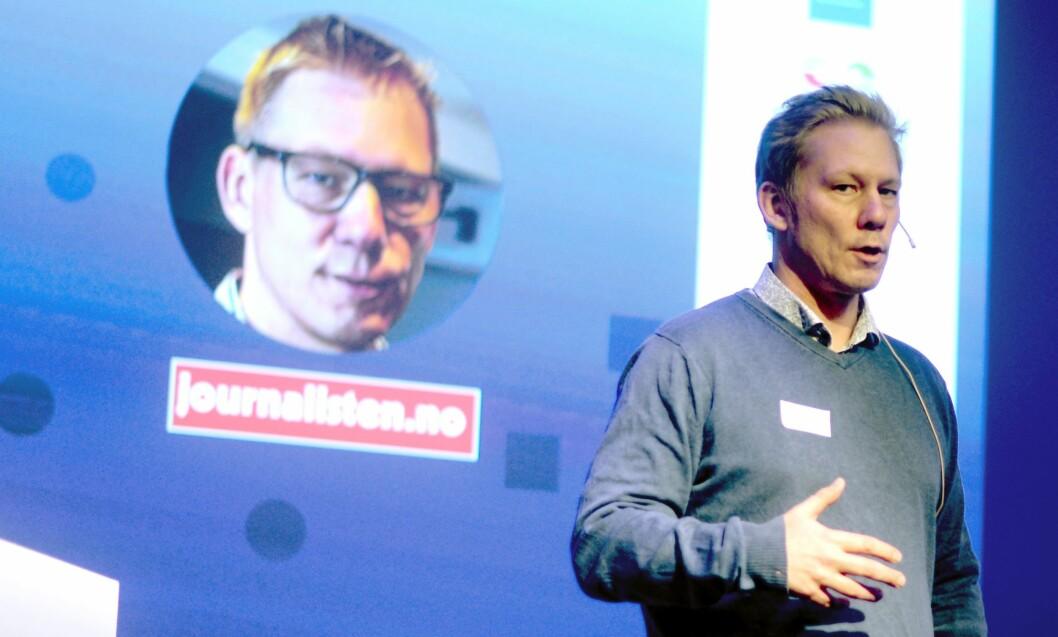Martin Huseby Jensen, tidligere redaktør i fagbladet Journalisten. Her fra Fagpressedagen 2017.