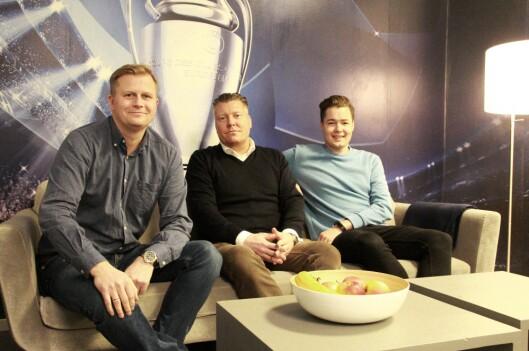 Vegard Drogseth, Børge Nielsen og Fredrik Olimb.