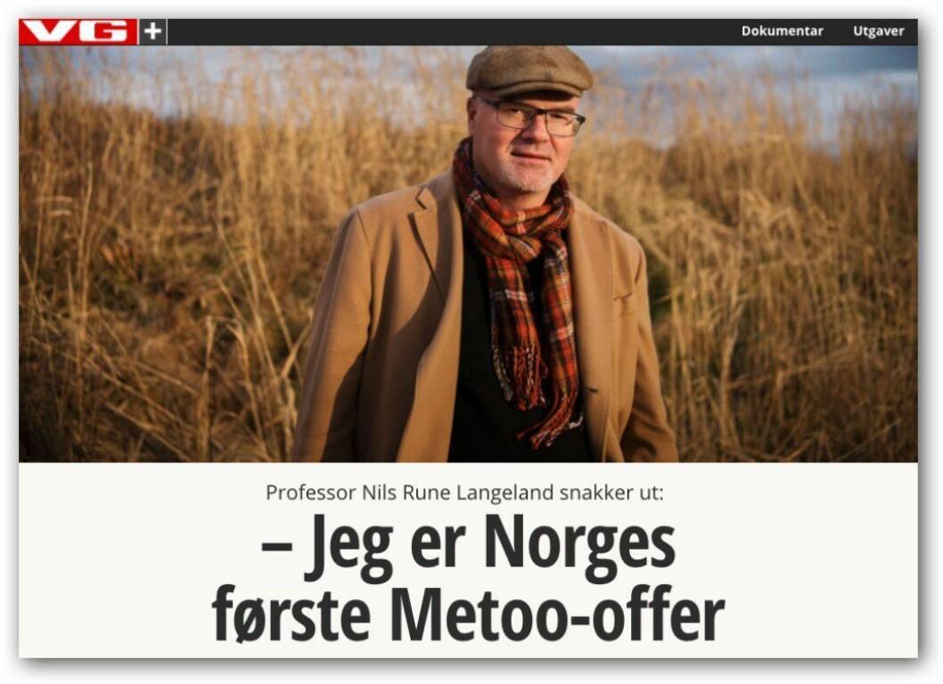 VG Helgs intervju med Nils Rune Langeland (på nett).