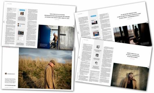 Åtte sider i VG Helg lørdag med Nils Rune Langeland.