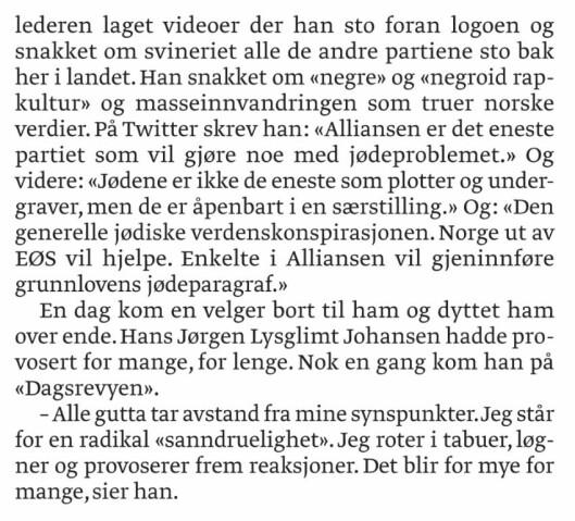 Avsnittene som Lysglimt Johansen klaget på.