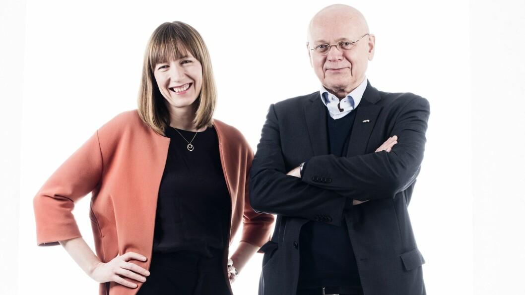 Utviklingsredaktør Katrine Ree Holmøy og ansvarlig redaktør Bjørgulv Braanen.