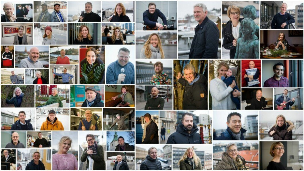 Noen av «folkene i Fredriksstad Blad».